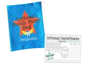 Boys Official Personalised Tooth Fairy Bag