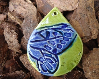 Butterfly Wing in a Teardrop Pendant