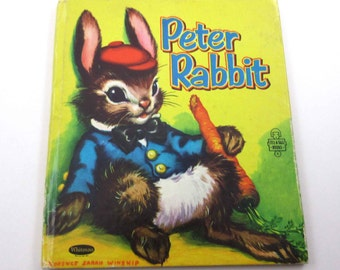 Peter Rabbit Vintage 1950s Children's Book by Whitman Illustrated by Florence Sarah Winship