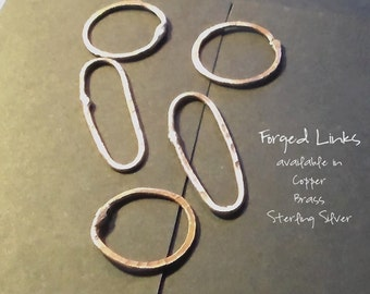 Forged  Links Sample available in Copper Brass or Sterling Silver