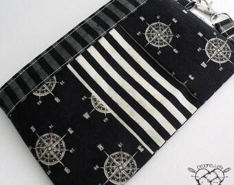 Wristlet Wallet Clutch Pleated Zip Pouch World Traveler
