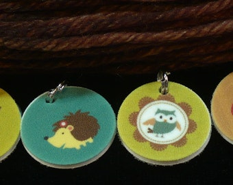 STITCHMARKERS for KNITTERS or CROCHETERS, Woodland Creatures 2