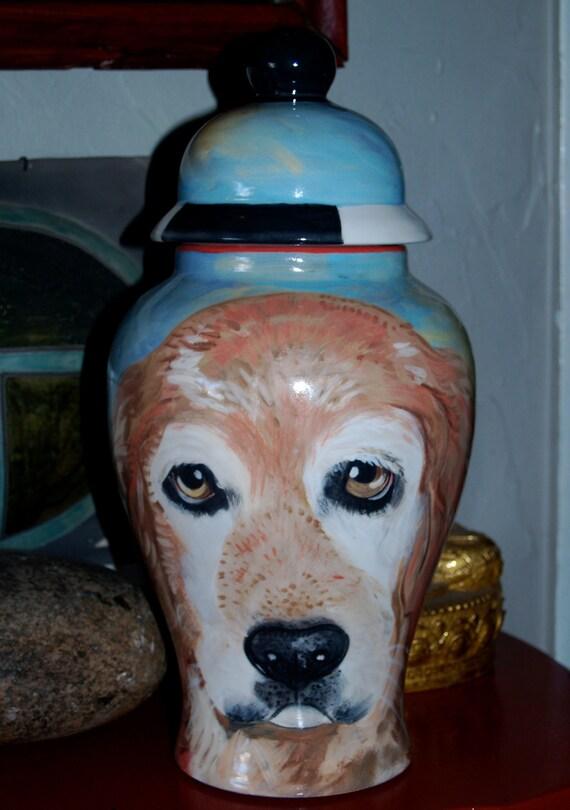 Ceramic burial PET URN Custom large dog urn any breed personalized hound dog