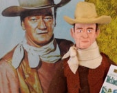 John Wayne Doll Miniature Western Art Hollywood Film Star