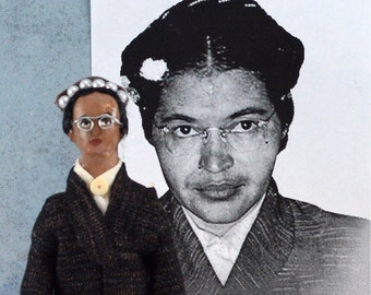 Rosa Parks Historical Doll Miniature Black History Art