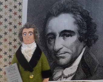Thomas Paine Colonial Historical Doll Miniature Revolutionary War Character