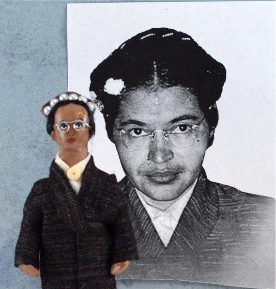 Rosa Parks Historical Doll Miniature Black History Art