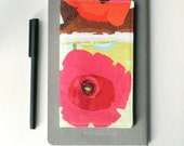 Poppy Flower Checkbook Cover
