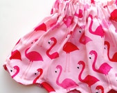Toddler Skirt Pink Flamingos