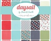 DAYSAIL - Moda Fabric Charm Pack - Five Inch Quilt Squares Quilting Material Blocks Bonnie and Camille