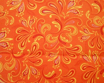 Orange Flip Flop Fabric Sold by the Yard