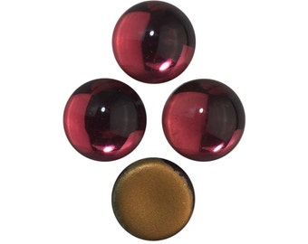 Rose Pink Glass Cabochons 13mm (4) cab2006X