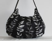 Pleated Bag // Shoulder Purse - Growing Vines in Noir