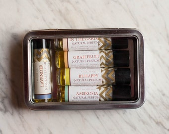 Natural Perfume Gift Set//Sampler Set