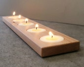 Candle Holder, Modern, Wood, Home Accents, Home Decor, Tea Light Holder, Minimalist, Natural Wood, Candles, Bath Decor, Home Gifts