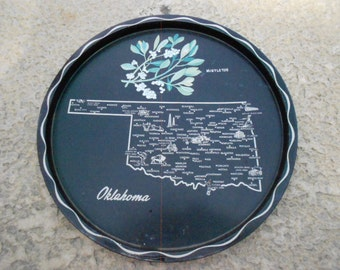 1960s Oklahoma Souvenir Tray