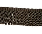 Green Fringe, Olive Green Bullion Fringe Sewing Trim 3 inches wide x 3 yards