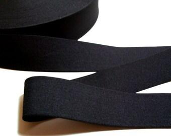 Black Elastic Band 2 1/4 inches wide x 3 Yards, Black Elastic Ribbon