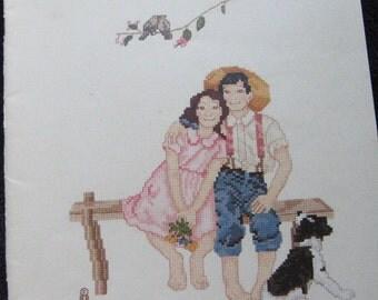 Norman Rockwell Childhood Memories Cross Stitch Pattern Book