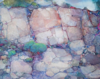 ROCKS Watercolor Collage