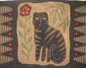 """Linen Rug Hooking Pattern """"Adelia's Garden"""""""