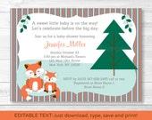 Cute Woodland Fox Baby Sh...