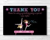 Gymnastics Birthday Thank...