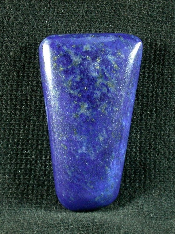 Lapis Lazuli freeform cabochon from Afghanistan 19x33x6mm
