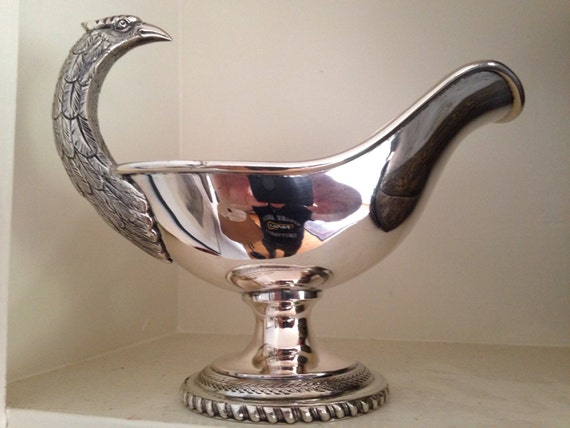 1955 Pampaloni Silver Pheasant Gravy - Florence Italy Figural 800 Silver