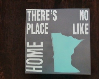 There's No Place Like Home 'Minnesota' Canvas