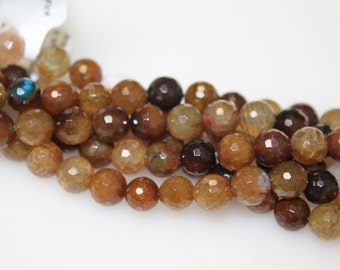 Agate Round Faceted 8 mm Beads