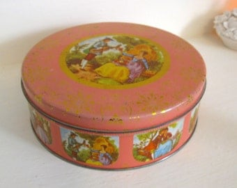 Vintage Pink Cookie Tin