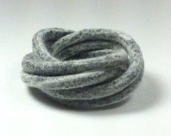White Black Felted Bangles / Modern Bracelet / Felted Bracelet / from Twisted Felt Collection