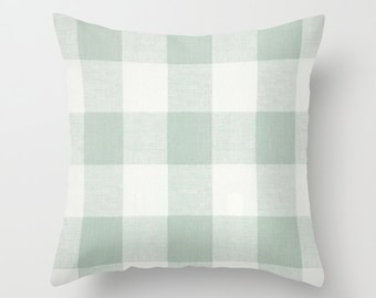 Green Pillow cover Plaid Pillow Cover Decorative Pillow Cover Cabin Pillows Size Choice
