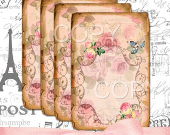 Instant Download - SWEET ROSE-  Printable Digital Collage Sheet - Digital Download
