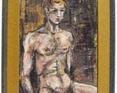 reserved for bdjaustin   Colangelo Modernist Male Nude 1976