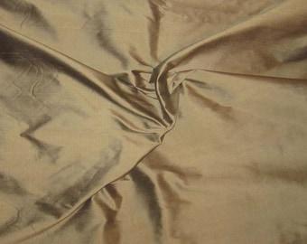 MILK CHOCOLATE Silk DUPIONI Fabric - fat 1/4