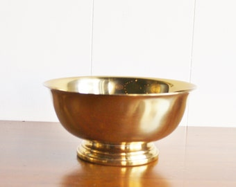 Vintage brass Gorham footed Paul Revere bowl
