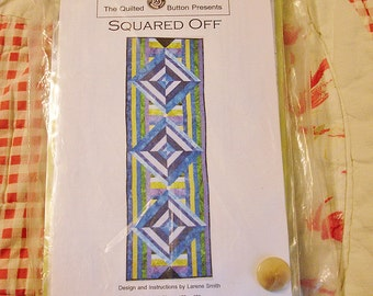 Quilted Table Runner Kit - Squared Off, Hand Dyed Table Runner Kit