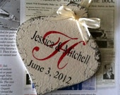 Our 1st CHRISTMAS ORNAMENT, Mr. and Mrs. Christmas Ornament, Personalized Mr & Mrs Christmas Ornament, Shabby Chic Style Ornament, 3 1/4 x 5