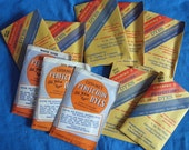 Reduced - 10 packs of Vintage Cushing Perfection Dye with instructions, professional acid dyes for all fabrics except some polyesters