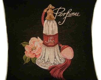 Perfume London Metallic Tapestry Cushion Cover Sham
