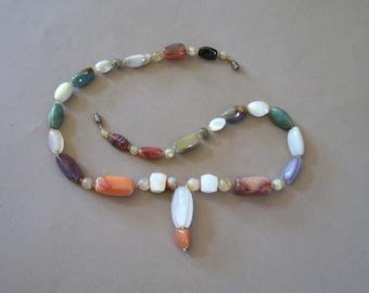 Vintage Multi Stone Necklace