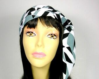 Bandana Scarf Neck Scarf Hair Scarf Short Scarf Womans Scarf Hair Wrap Womans Head Wrap Sash Headband Hair Tie Small Scarf Gray Scarf