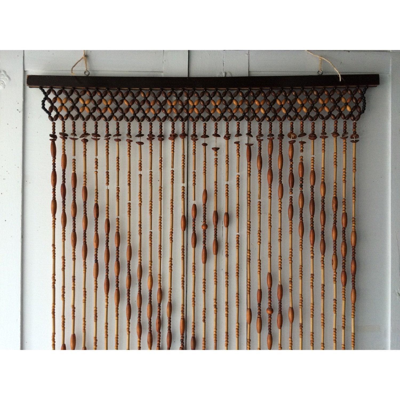 vintage wood beaded curtain