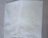 Matching White Tea Towels -  White on White Cut Out & Embroidery