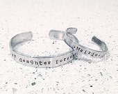 Custom Mother/Daughter metal stamped bracelets