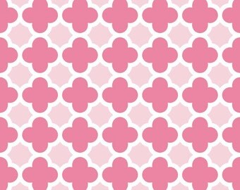 Quatrefoil in Hot Pink/Baby Pink (C435-71)