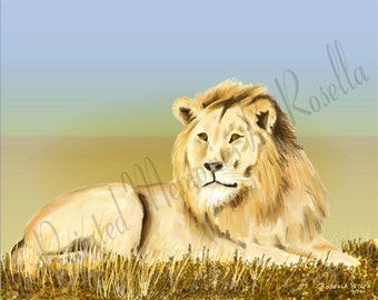 His Majesty At Sunrise Instant Download Original Digital Painting 10x8