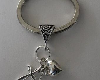 Sterling FAITH HOPE & CHARITY Key Ring, Key Chain -